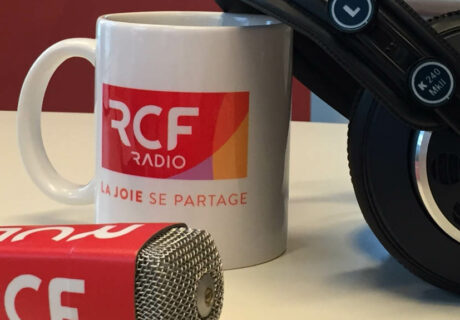 Header - tasse, micro et casque RCF